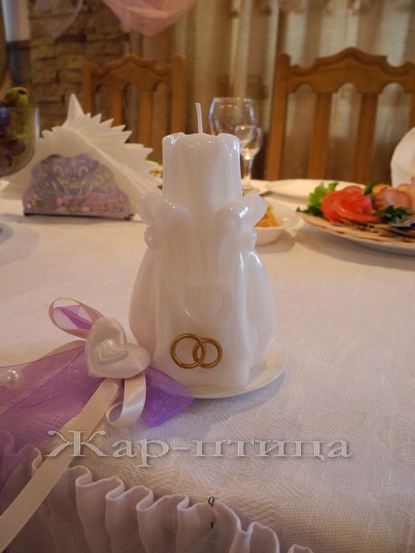 Свеча свадебная мини хамелеон (мигающая, со светодиодами), высота 11 см, время горения 6 часов, на поддоне - 490 руб.