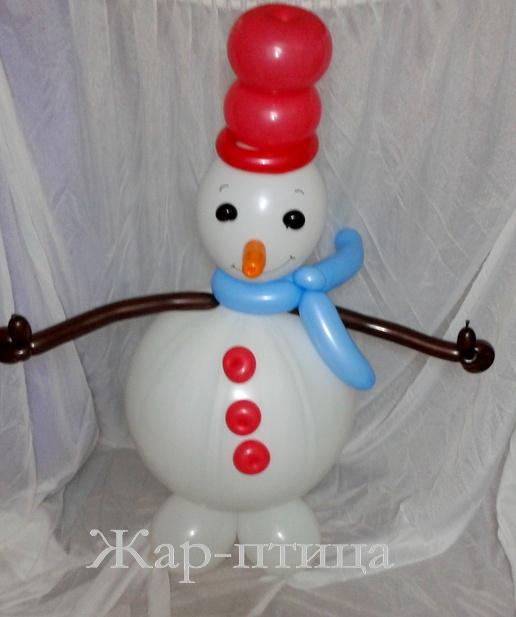 Снеговик Сеня (высота ок. 130 см) - 500 руб.