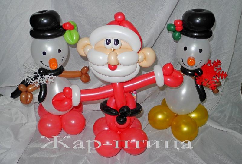 Фигурки-малютки (высота ок.40 см). Дед Мороз - 300 руб. Снеговичок - 200 руб.