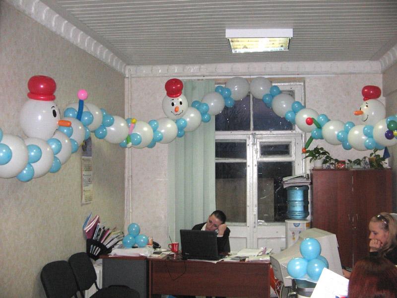 Новогоднее оформление офиса