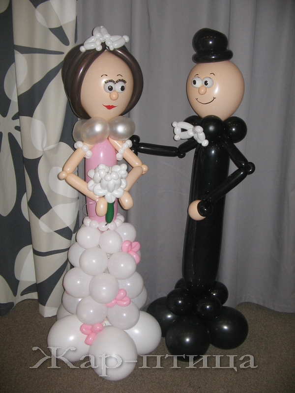 Жених и невеста (высота ок. 130 см) - 1200 руб.