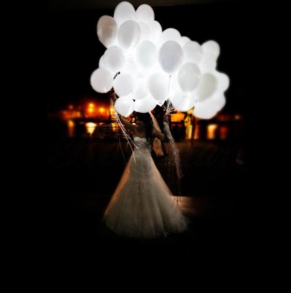 Шар с подсветкой с гелием - идеальный финал свадебного торжества! - 95 руб./шт