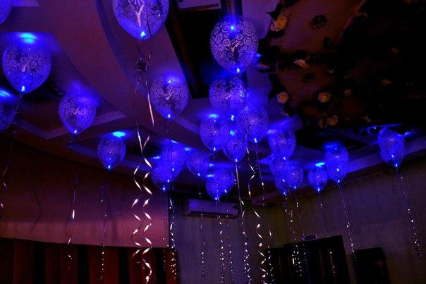 Прозрачный шар с рисунком с подсветкой, с гелием - от 120 руб./шт