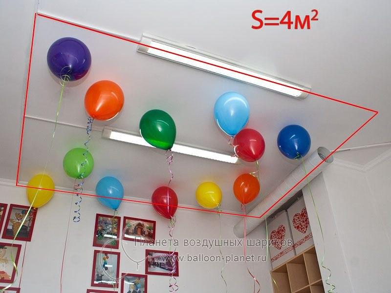 Сколько нужно шаров? Так выглядят 3 шара на 1 кв.м