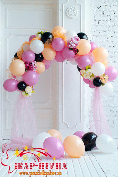 Мини-арочка для маленькой принцессы в первый день рождения. Высота 150 см. - 2000 руб.