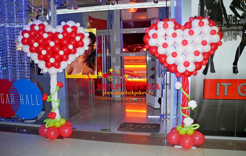 Оформление магазина к Дню Святого Валентина