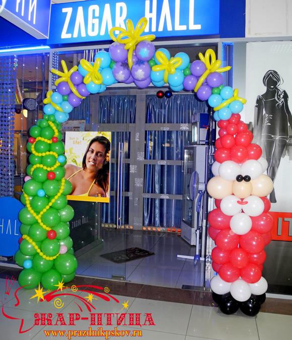 Оформление магазина к Новому году