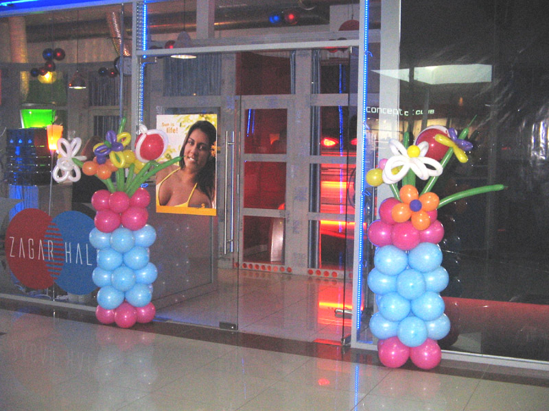 Колонны с цветами ассорти